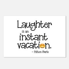 Laughter is an Instant Va Postcards (Package of 8)