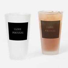 I LOVE PORTUGAL Drinking Glass