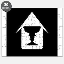 Cute Face vase illusion Puzzle