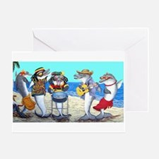 Dolphin Beach Party Greeting Card