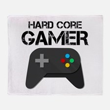 Game Console Black Joystick Throw Blanket