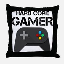 Game Console Black Joystick Throw Pillow