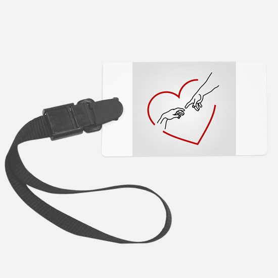 Cute Human touch Luggage Tag
