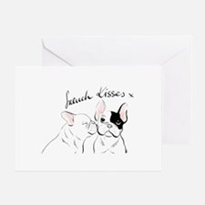 French Kisses Greeting Cards