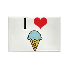 I Love (Heart) Ice Cream Rectangle Magnet