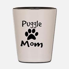 Puggle Mom Shot Glass