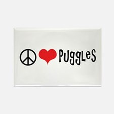 Peace Love and Puggles Magnets