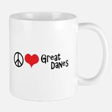 Peace Love and Great Danes Mugs