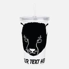 Cat Face Silhouette (Custom) Acrylic Double-wall T