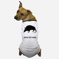 Armadillo Silhouette (Custom) Dog T-Shirt
