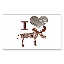 I heart Moose Decal