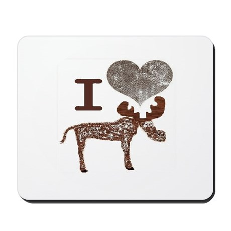 I heart Moose Mousepad