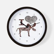 I heart Moose Wall Clock