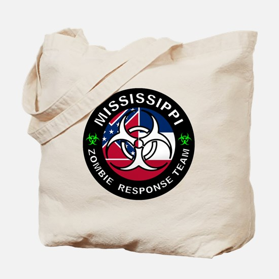 Mississippi Zombie Response Team Tote Bag