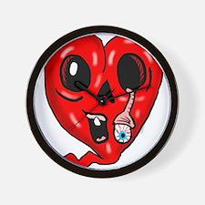 Zombie Heart 3 Wall Clock