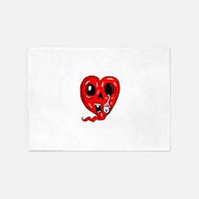 Zombie Heart 3 5'x7'Area Rug