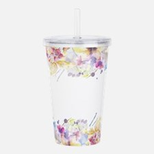 Floral Watercolor Acrylic Double-wall Tumbler