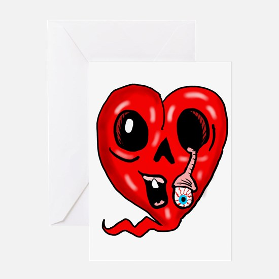 Zombie Heart 3 Greeting Cards