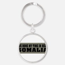 Funny Support the troops Round Keychain