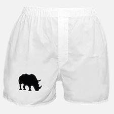Rhino Silhouette Boxer Shorts