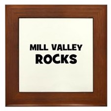 Mill Valley Rocks Framed Tile