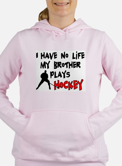 Cute I love hockey boys Women's Hooded Sweatshirt
