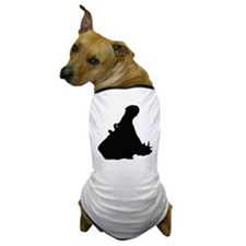 Hippo Face Silhouette Dog T-Shirt