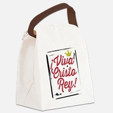 Viva Cristo Rey Canvas Lunch Bag