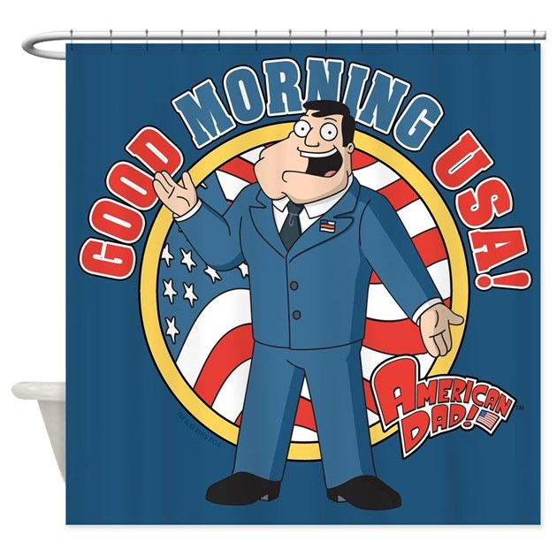 American Dad Stan Good Morning USA Shower Curtain By