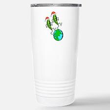 Peas On Earth Christmas Stainless Steel Travel Mug