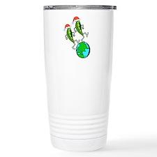 Peas On Earth Christmas Thermos Mug