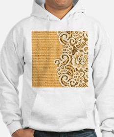 sunflower yellow burlap lace Jumper Hoody