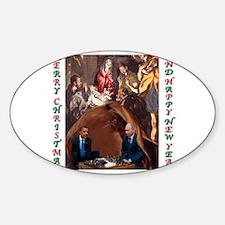 Unique Obama christmas Sticker (Oval)