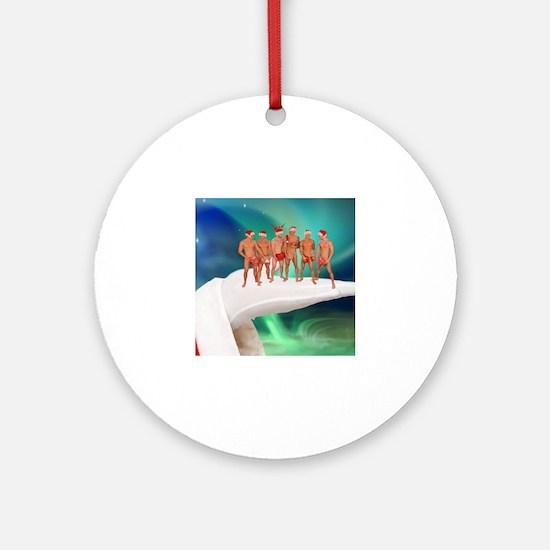 Cute Gay christmas Round Ornament