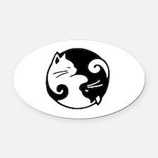Unique Cat meow Oval Car Magnet
