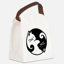 Cute Kitty Canvas Lunch Bag