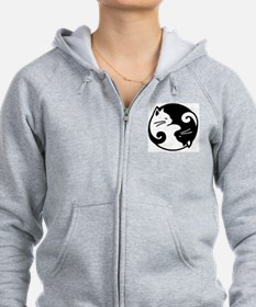 Unique Yin and yang cats Zip Hoodie