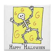 Dancin' Skeleton Tile Coaster