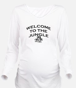 Bands Long Sleeve Maternity T-Shirt
