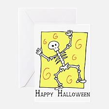 Dancin' Skeleton Greeting Card