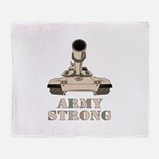 M-1 Tank Army Strong Throw Blanket