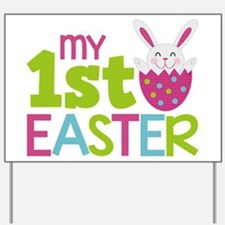 Cute Babies 1st easter Yard Sign