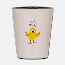 Funny Tennis Chick Shot Glass