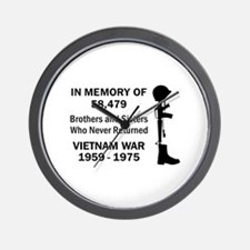 In Memory Of Vietnam Wall Clock