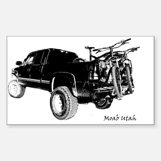 Funny Moab utah Sticker (Rectangle)