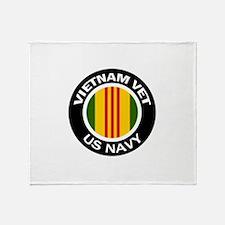 Vietnam Vet US Navy Throw Blanket