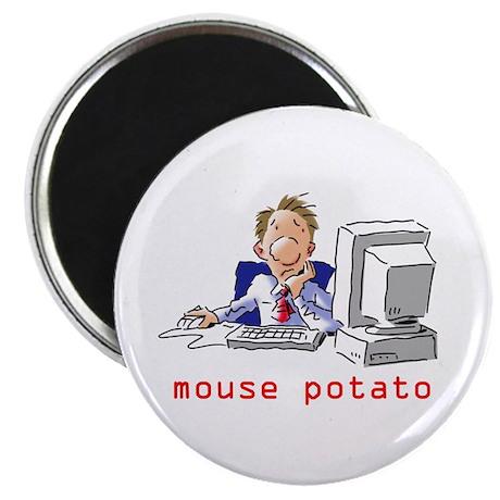 "Mouse Potato Guy 2.25"" Magnet (100 pack)"