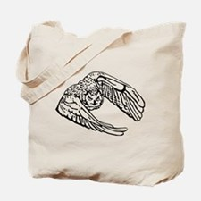 Owl in Flight Drawing Outline Tote Bag