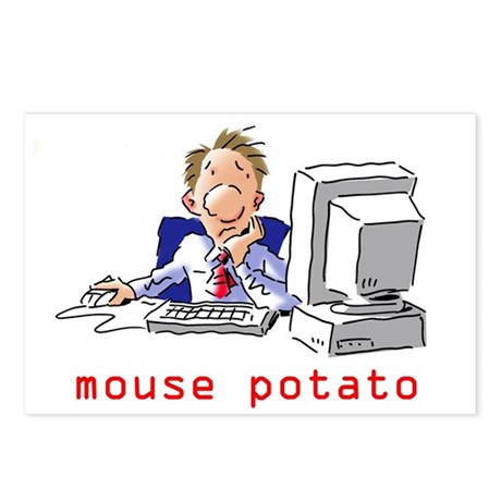 Mouse Potato Guy Postcards (Package of 8)