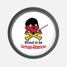 Proud German-American Wall Clock